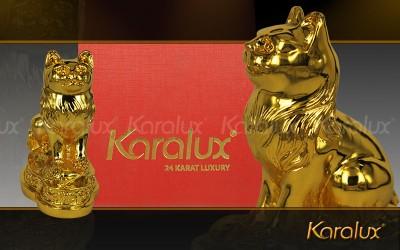 Mèo phong thủy mạ vàng 24K Quà tặng cho người TUỔI MÃO