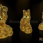 Hướng dẫn đặt tượng Mèo mạ vàng hợp phong thủy, sinh tài lộc