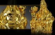 Bộ tượng 3 ông Tam Đa - Phúc Lộc Thọ mạ vàng 24K