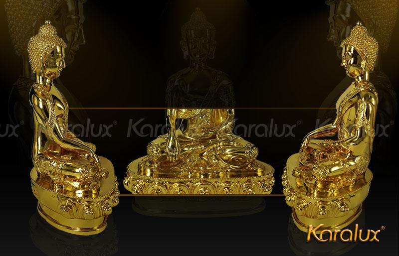 Tượng Phật Thích Ca mạ vàng không chỉ tạo cảm giác an toàn, tâm thư thái, thoải mái mà còn làm cho căn phòng của bạn, góc làm việc trở nên sang trọng hơn. Khi bước vào căn phòng – nơi làm việc sẽ cảm nhận được một phần không gian thanh tịnh cũng như tâm hồn của chủ nhân.