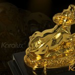Chiêm ngưỡng bộ ảnh Trâu phong thủy mạ vàng bởi Karalux