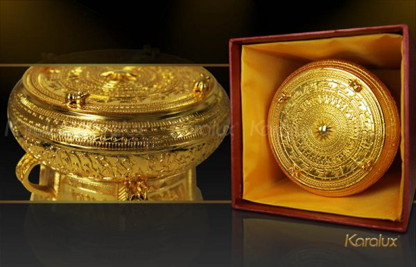 trong dong ma vang, giá bán trống đồng đông sơn mạ vàng 24k