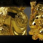 Tượng phật Di lặc đứng mạ vàng