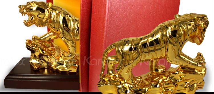 Tuogn hổ phong thủy mạ vàng 24k