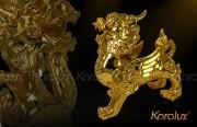 Tỳ hưu phong thủy mạ vàng 24K