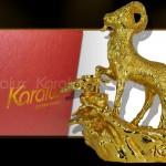 Karalux giới thiệu bộ ảnh tượng Dê phong thủy mạ vàng 24K