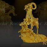 Xem video tượng Dê phong thủy mạ vàng 24K bởi Karalux