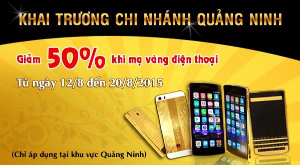 Ma vang tai Quang Ninh, dịch vụ mạ vàng điện thoại iphone 6 ở Hạ Long