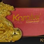 Bộ ảnh linh vật Rồng phong thủy mạ vàng ở Việt Nam bởi Karalux