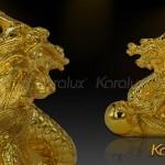 Ý nghĩa tượng Rồng mạ vàng trong phong thủy