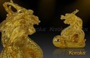 Tuong rong phong thuy, Linh Vật Rồng Phong Thủy Mạ Vàng 24K