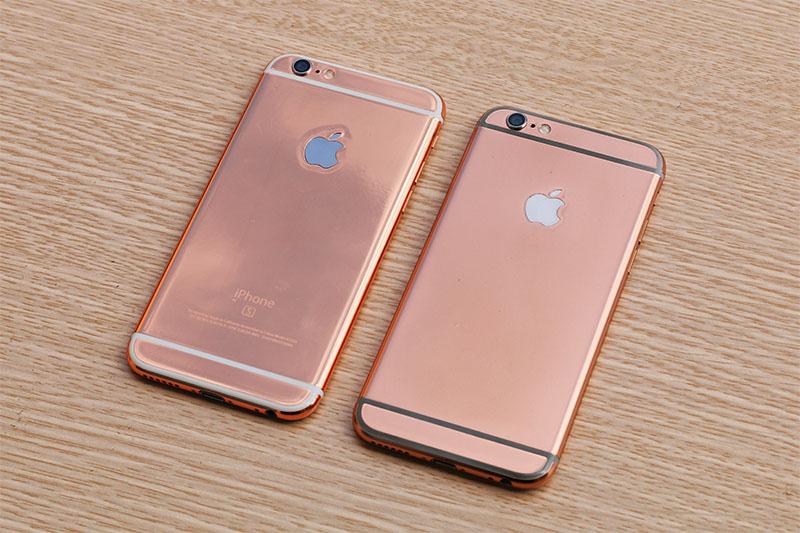 iphone 6s, 6s plus mạ vàng hồng, vàng socola