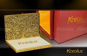 Hộp đựng danh thiếp, Name card mạ vàng 24K - Mã số NC01 | Quà tặng sếp VIP Nam nữ