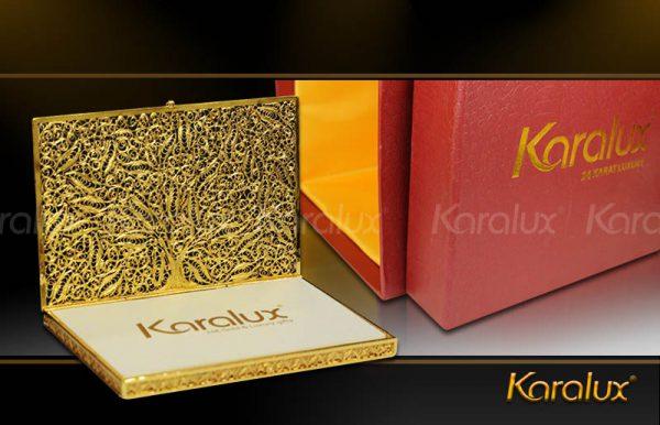 Hộp đựng danh thiếp, Name card mạ vàng 24K – Mã số NC01   Quà tặng sếp VIP Nam nữ
