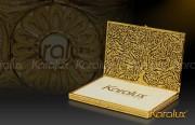 Hộp đựng danh thiếp mạ vàng - NC01