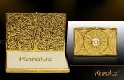 Hộp đựng danh thiếp, Name card mạ vàng 24K - Mã số NC01   Quà tặng sếp VIP Nam nữ