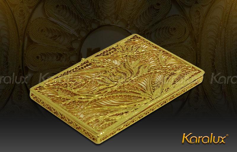 Hộp đựng danh thiếp mạ vàng 24K hình hoa sen | Quà tặng sếp nữ ngày 20/10