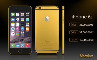 Giá mạ vàng 24K cho iPhone 6s, iP 6s plus tại Hà Nội, Tp HCM | Dịch vụ Karalux