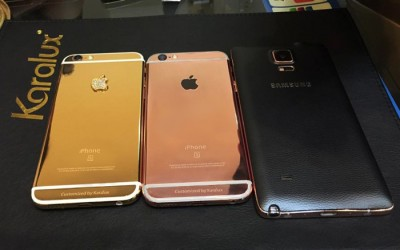 Vỏ iPhone 6 thường thành iPhone 6s, iP6s plus mạ vàng hồng