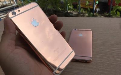 Thay Vỏ iPhone 6 thành iPhone 6s, iP6s plus mạ màu vàng hồng tại Tp HCM, Hà Nội