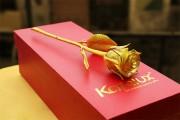 Giá bán Bông Hoa Hồng Dát Vàng, mạ vàng 24K tại Hà Nội, Tp HCM