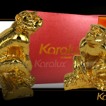 Hình ảnh tượng Khỉ phong thủy mạ vàng 24K mang thương hiệu Karalux