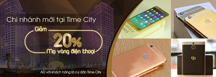 Mạ vàng điện thoại iPhone 6s, Samsung Note 5, BlackBerry tại tòa T8, T9 Time City