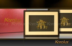 Bức tranh Khuê Văn Các mạ vàng 24K | Quà tặng lưu niệm cho người nước ngoài, du khách