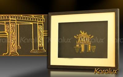 Bức tranh Khuê Văn Các mạ vàng 24K   Quà tặng biểu tượng của Hà Nội cho du khách