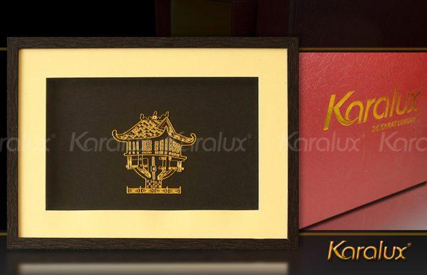 Tranh chùa một cột mạ vàng 24K, Quà lưu niệm của Hà Nội tặng khách, đối tác người nước ngoài