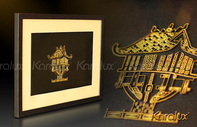 Quà lưu niệm: Tranh chùa một cột mạ vàng