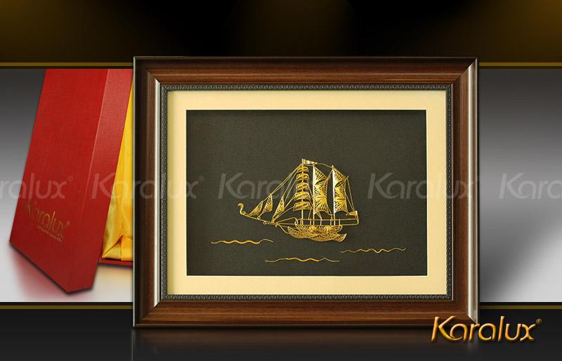 Tranh thuận buồm xuôi gió mạ vàng 24K | Quà tặng phong thủy treo tường 2016