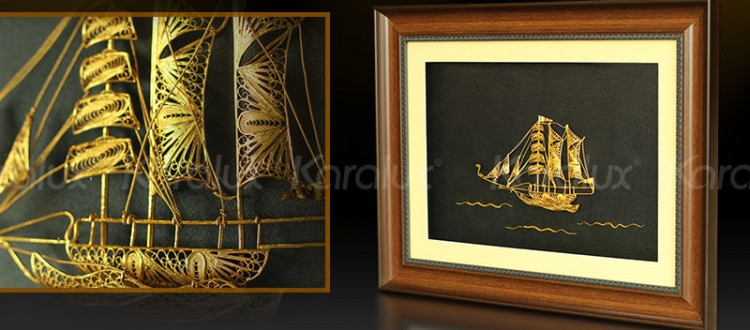 tranh thuyền buồm phong thủy, thuận buồm xuôi gió