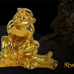 Quà tặng tết 2016: Tượng khỉ phong thủy mạ vàng phú quý, tài lộc