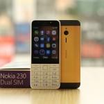 Điện thoại Nokia 230 mạ vàng 24K nhỏ gọn, hữu ích giá rẻ