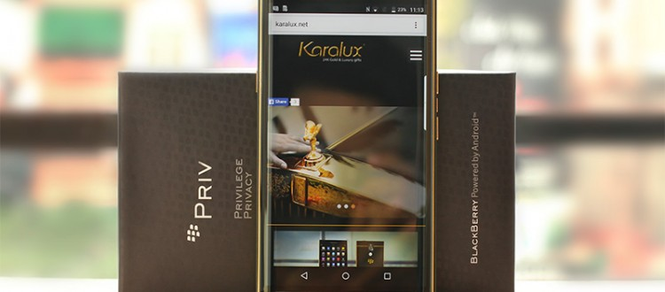 BlackBerry Priv ma vang 24K, Karalux giới thiệu BlackBerry Priv mạ vàng tại Việt Nam