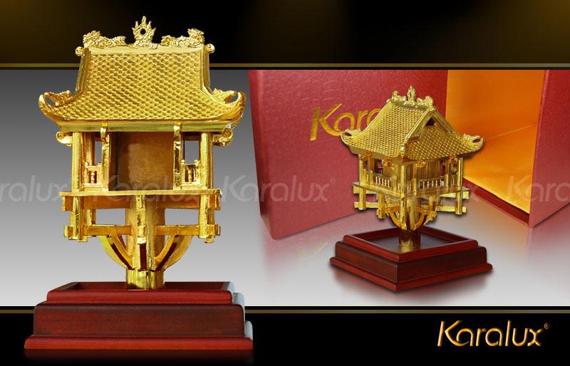 biểu tượng Chùa một cột mạ vàng tại Hà Nội, Tp HCM