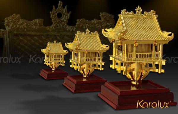 Chùa một cột mạ vàng 24k   Quà tặng lưu niệm tặng đối tác, khách du lịch