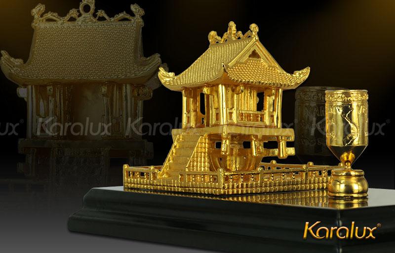 Giá bán chùa một cột để bàn mạ vàng, biểu tượng của Thủ đô Hà Nội