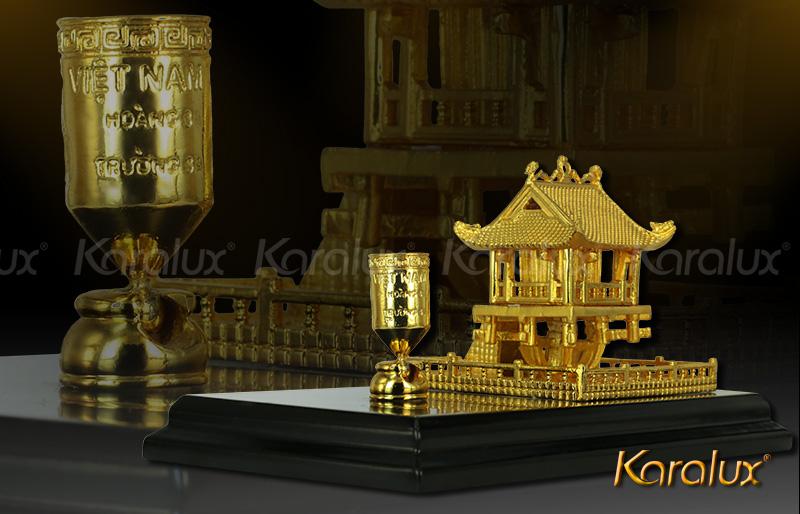 Chùa một cột để bàn mạ vàng | Quà tặng sếp, đối tác, du khách 2015