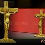 Tượng Chúa Giê-su mạ vàng làm quà tặng đón Giáng sinh