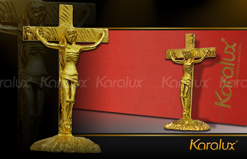 Chua Jesus ma vang, tượng Chúa Giê-su đúc đồng mạ vàng