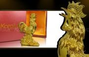 Giá bán tượng gà tài lộc mạ vàng 24K tại Hà Nội, Tp HCM