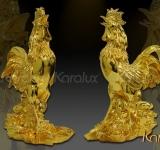 Tượng Gà mạ vàng làm quà tặng Tết 2017 tại Đà Nẵng