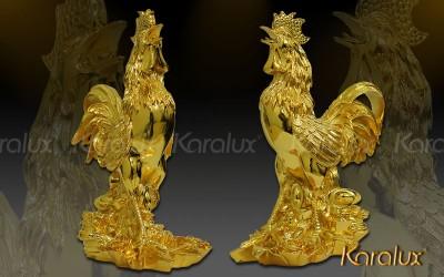 Gà tài lộc mạ vàng 24K | Quà tặng cao cấp dịp lễ tết dành cho doạnh nhân, đối tác