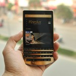 A Gold-plated BlackBerry Porsche Design P'9983 with 24K Gold
