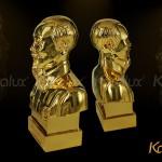 Giới thiệu cách bài trí tượng bác Hồ bán thân đúc đồng Mạ vàng