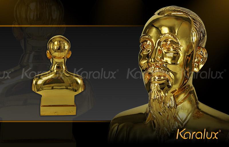 Quà tặng doanh nghiệp biểu tượng Bác Hồ bằng vàng 24k