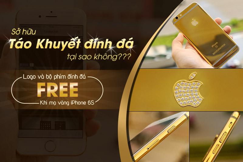 iPhone 6s mạ vàng đính đá, kim cương