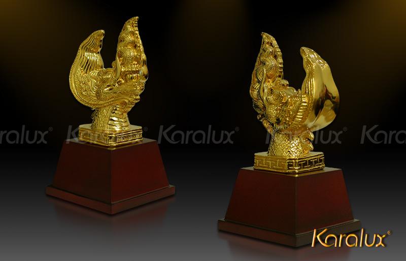 Biểu tượng đầu Rồng thời Lý mạ vàng | Quà tặng cao cấp phong thủy, dịp lễ dành cho lãnh đạo, đối tác, quan chức